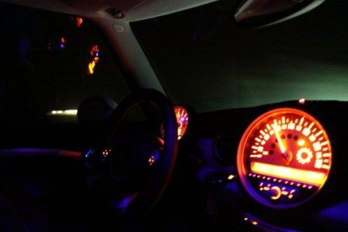 MINI Cooper on the road